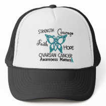 Ovarian Cancer Celtic Butterfly 3 Trucker Hat