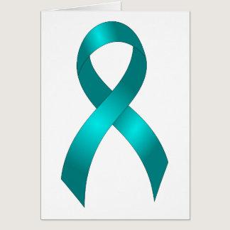 Ovarian Cancer | Cervical Cancer - Teal Ribbon Card