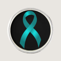 Ovarian Cancer | Cervical Cancer | Teal Ribbon Lapel Pin