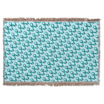 Ovarian Cancer | Cervical Cancer | Teal Ribbon Throw