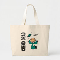 Ovarian Cancer CHEMO GRAD 1 Large Tote Bag