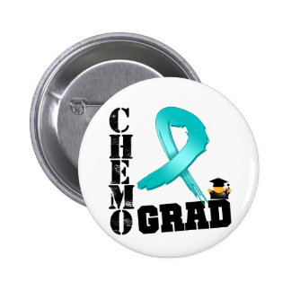 Ovarian Cancer Chemo Grad Buttons