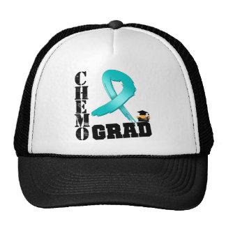 Ovarian Cancer Chemo Grad Trucker Hat