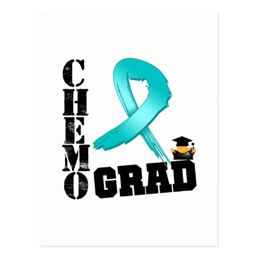 Ovarian Cancer Chemo Grad Postcard