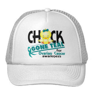 Ovarian Cancer Chick Gone Teal 2 Trucker Hats