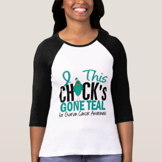 Ovarian Cancer Chick Gone Teal T Shirts