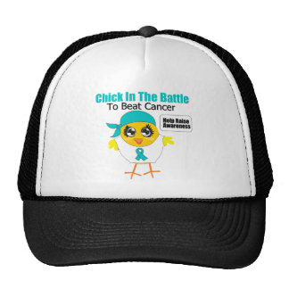 Ovarian Cancer Chick In the Battle to Beat Cancer Trucker Hat