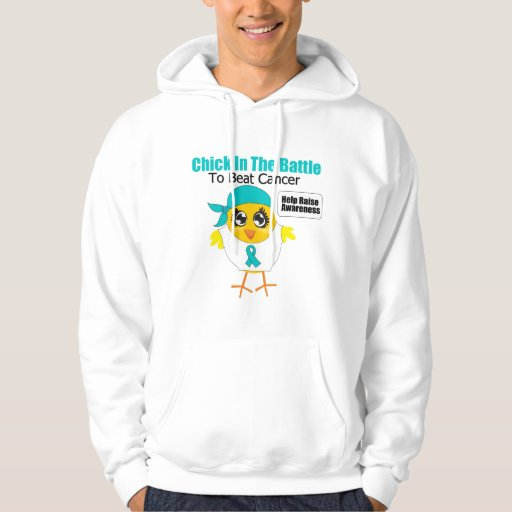 Ovarian Cancer Chick In the Battle to Beat Cancer Hoodie