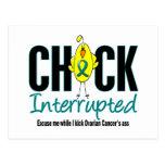Ovarian Cancer Chick Interrupted Postcard