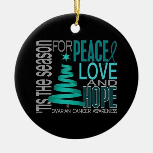 Ovarian Cancer Christmas 1 Ornaments