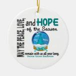 Ovarian Cancer Christmas 3 Snow Globe Ornaments