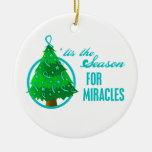 Ovarian Cancer Christmas Miracles Christmas Ornament