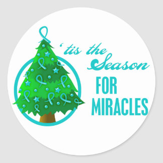 Ovarian Cancer Christmas Miracles Stickers