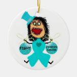 Ovarian Cancer Christmas Ornament
