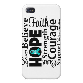 Ovarian Cancer Collage of Hope iPhone 4 Covers
