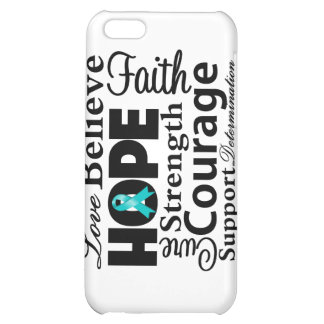 Ovarian Cancer Collage of Hope Cover For iPhone 5C