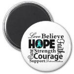 Ovarian Cancer Collage of Hope Refrigerator Magnets