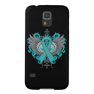 Ovarian Cancer Cool Wings Cases For Galaxy S5