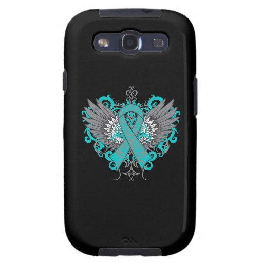Cooling Case For Samsung Galaxy S3 : Ovarian cancer cool wings galaxy siii case zazzle