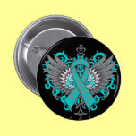 Ovarian Cancer Cool Wings Pins