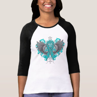 Ovarian Cancer Cool Wings T Shirts