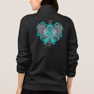 Ovarian Cancer Cool Wings Printed Jackets