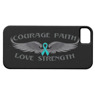 Ovarian Cancer Courage Faith Wings iPhone 5 Covers