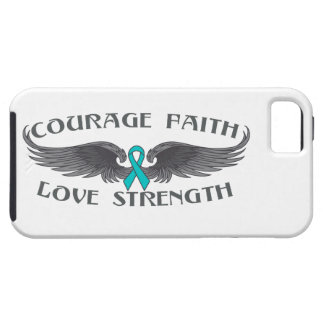 Ovarian Cancer Courage Faith Wings iPhone 5 Cover