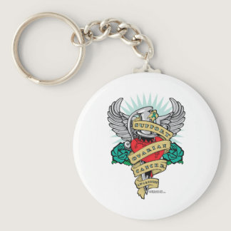 Ovarian Cancer Dagger Keychain