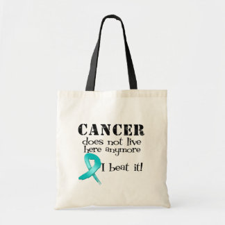 Ovarian Cancer Does Not Live Here Anymore Canvas Bags