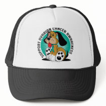 Ovarian Cancer Dog Trucker Hat