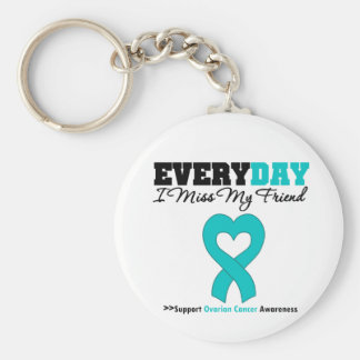 Ovarian Cancer Every Day I Miss My Friend Key Chain