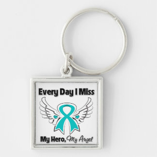 Ovarian Cancer Every Day I Miss My Hero Keychain