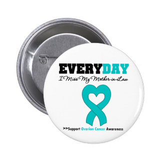 Ovarian Cancer Every Day I Miss My Mother in Law 2 Inch Round Button