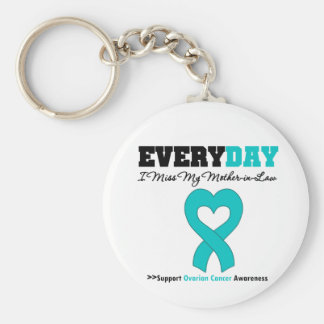 Ovarian Cancer Every Day I Miss My Mother in Law Keychain