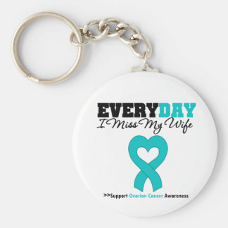 Ovarian Cancer Every Day I Miss My Wife Key Chain