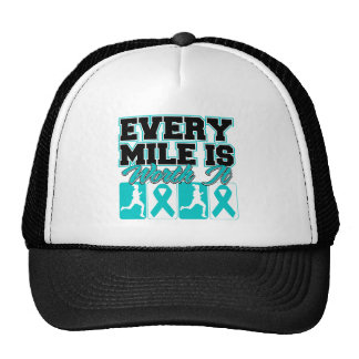 Ovarian Cancer Every Mile is Worth It Trucker Hat