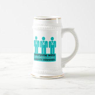 Ovarian Cancer Everyone Wins With Awareness Coffee Mugs