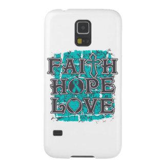 Ovarian Cancer Faith Hope Love Case For Galaxy S5
