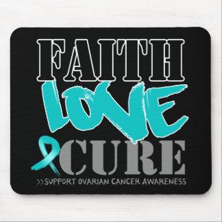 Ovarian Cancer Faith Love Cure Mouse Pad