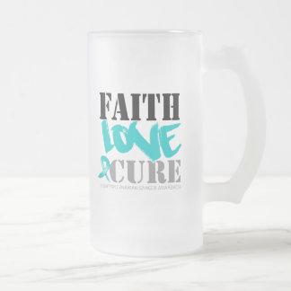 Ovarian Cancer Faith Love Cure Mugs