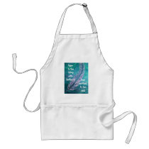 Ovarian Cancer Feather Hope Apron Teal and Purple