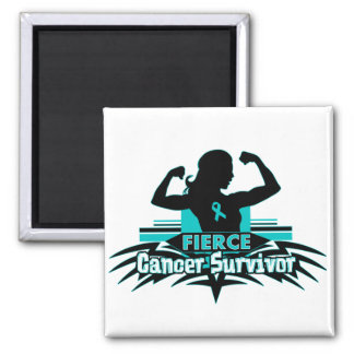 Ovarian Cancer Fierce Cancer Survivor Refrigerator Magnet