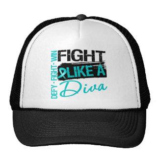 Ovarian Cancer - Fight Like a Diva Trucker Hat