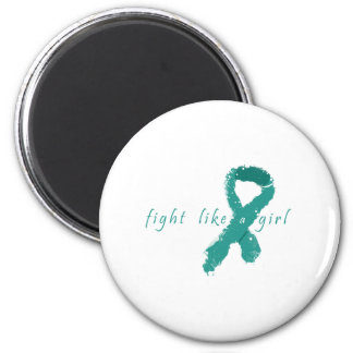 Ovarian Cancer - Fight Like a Girl 2 Inch Round Magnet