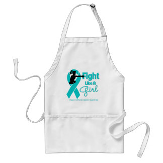 Ovarian Cancer Fight Like A Girl  Boxer Aprons