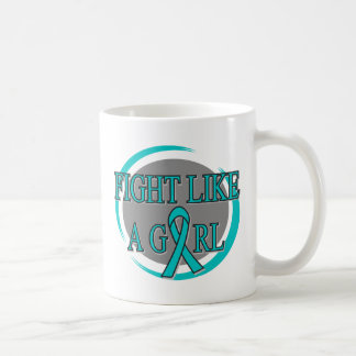 Ovarian Cancer Fight Like A Girl Circular Mug