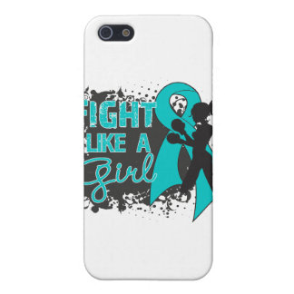 Ovarian Cancer Fight Like A Girl Grunge Covers For iPhone 5