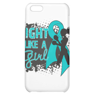Ovarian Cancer Fight Like A Girl Grunge iPhone 5C Case