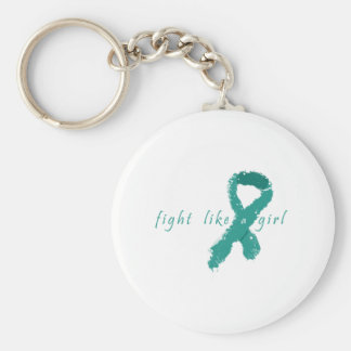 Ovarian Cancer - Fight Like a Girl Keychain